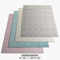 area rugs 4 3D model