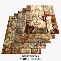 3D model area rugs