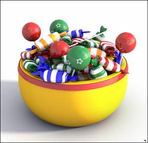 candy bowl 3D model