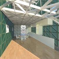 3D stories loft scene model