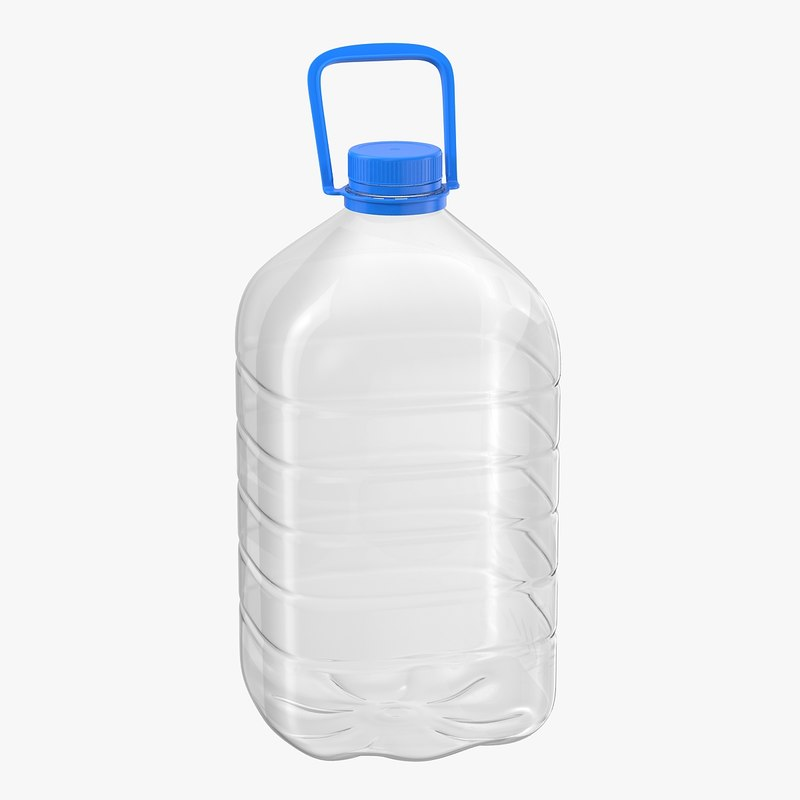 bottle plastic 5 3D model