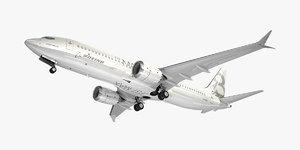 3D boeing plane generic white