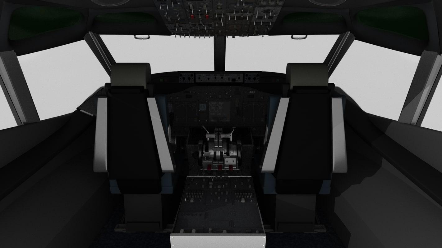 3D cockpit airplane air