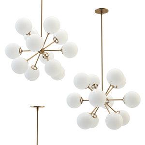 bistro small chandelier 3D model