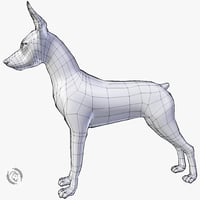 3D dog pinscher