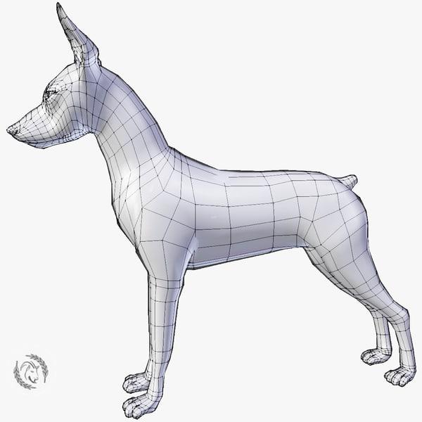 3D dog pinscher