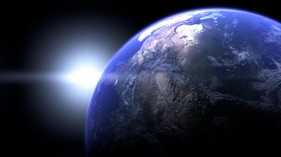 3D earth sun