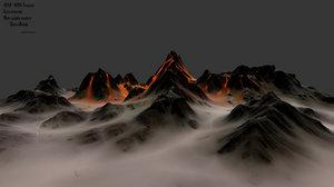 3D volcano