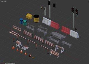 road objects 3D model
