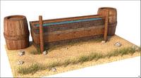 3D horse water western model