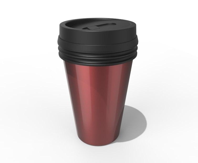 thermal coffee mug 3D model