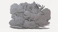 3D model cnc bas-relief modeled