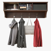 wall shelf clothes 3D