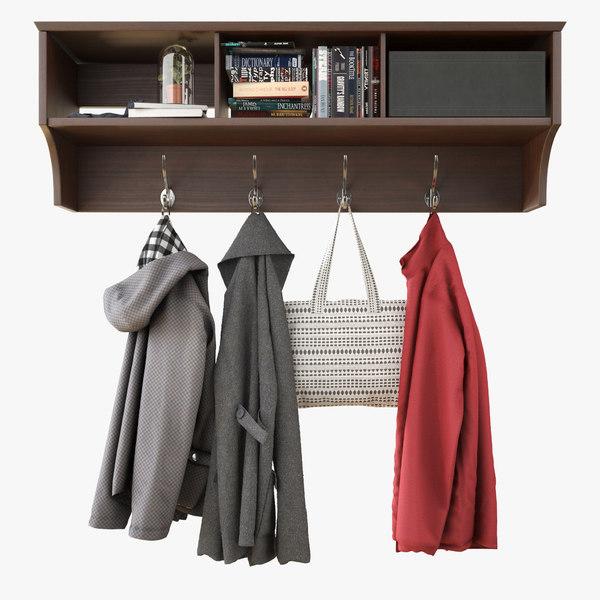 wall shelf clothes 3D
