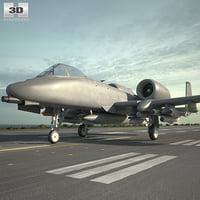 3D fairchild republic a-10 model