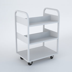 library trolley 3D model