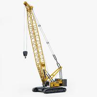 crawler crane liebherr hs 3D