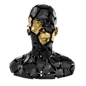 abstract sculpture bust model
