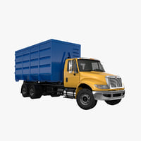 3D roller container truck