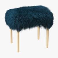 3D model wool fur