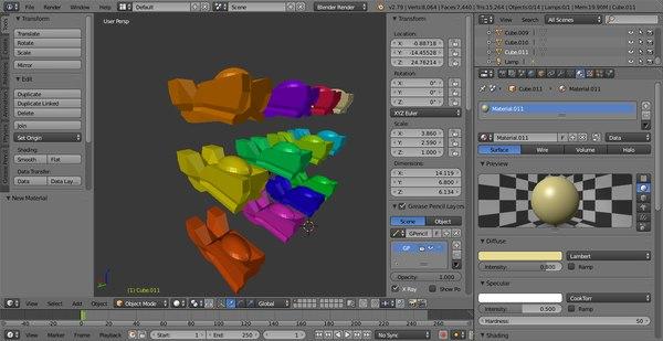 3D 12 spaceship