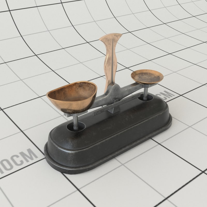french balance scale 3D model