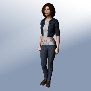 3D rigged woman