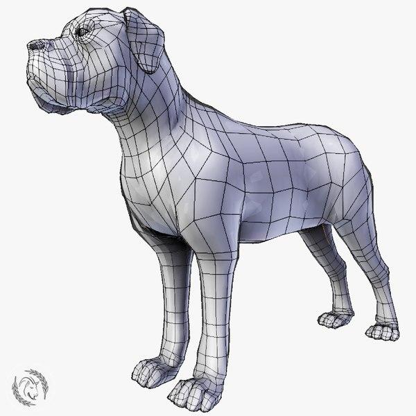 3D mastiff dog model