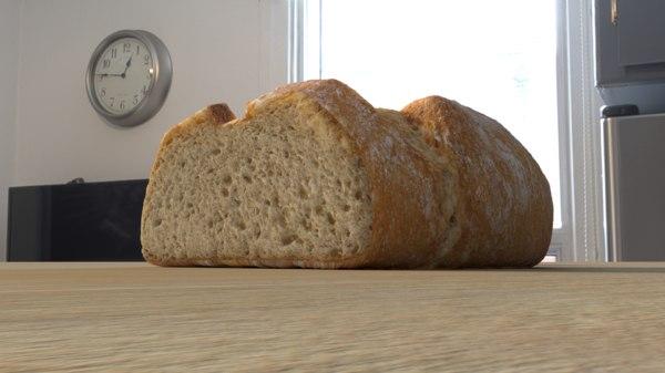 3D photorealistic bread model