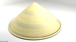 3D conical hat
