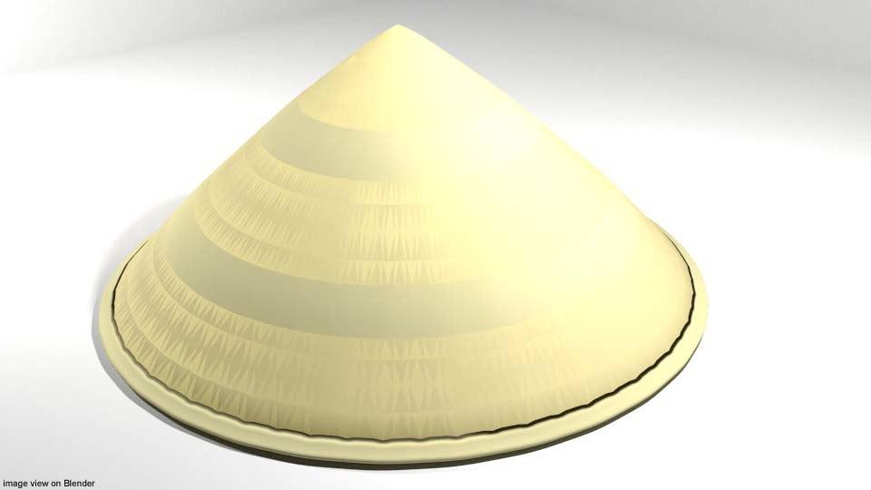 3D conical hat