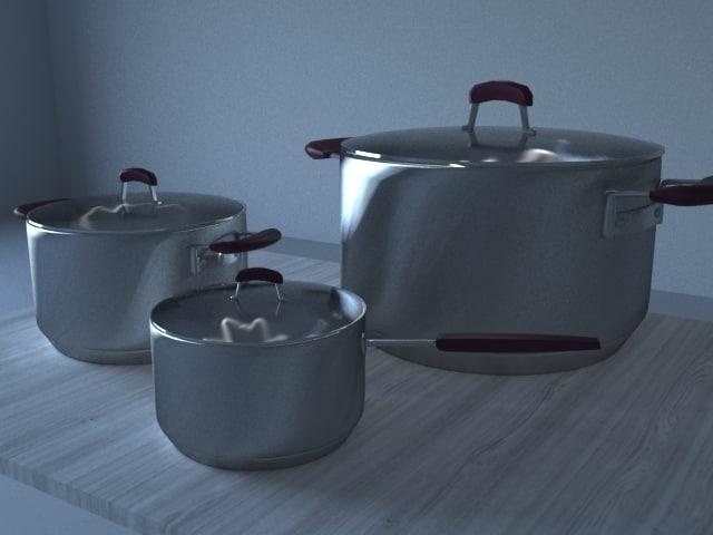 steel pans 3D model