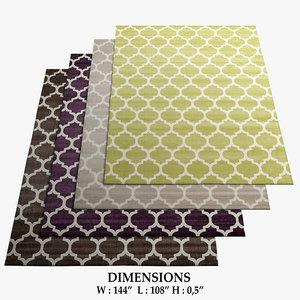 area rugs 8 3D model