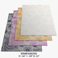 area rugs 9 3D model
