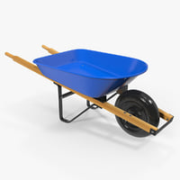 3D heavy gauge wheelbarrow wooden model
