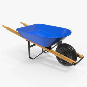 3D heavy gauge wheelbarrow wooden model
