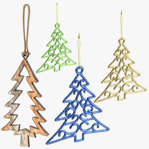 3D tree ornaments