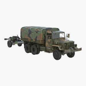 military truck m35a2 field 3D model