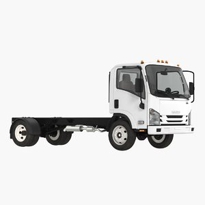 3D commercial truck isuzu npr model