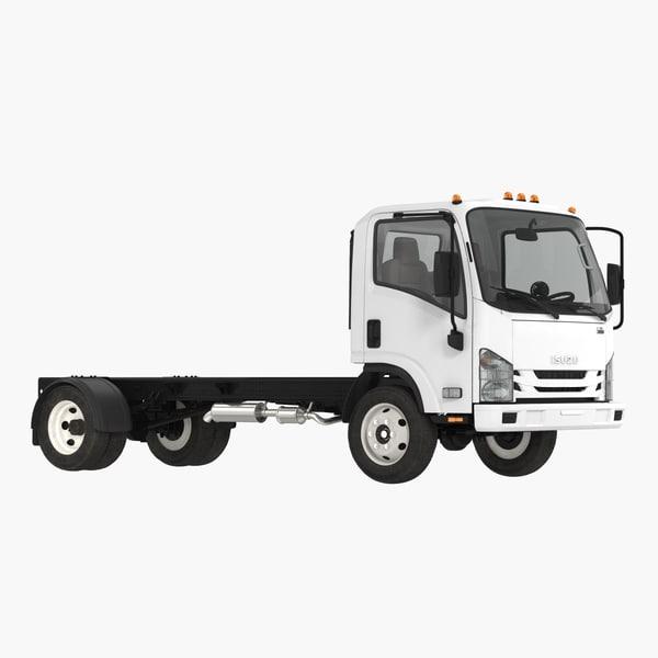 3D commercial truck isuzu npr model