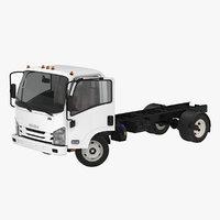 Commercial Truck Isuzu NPR 2018 Rigged