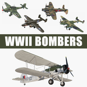 3D wwii bombers model