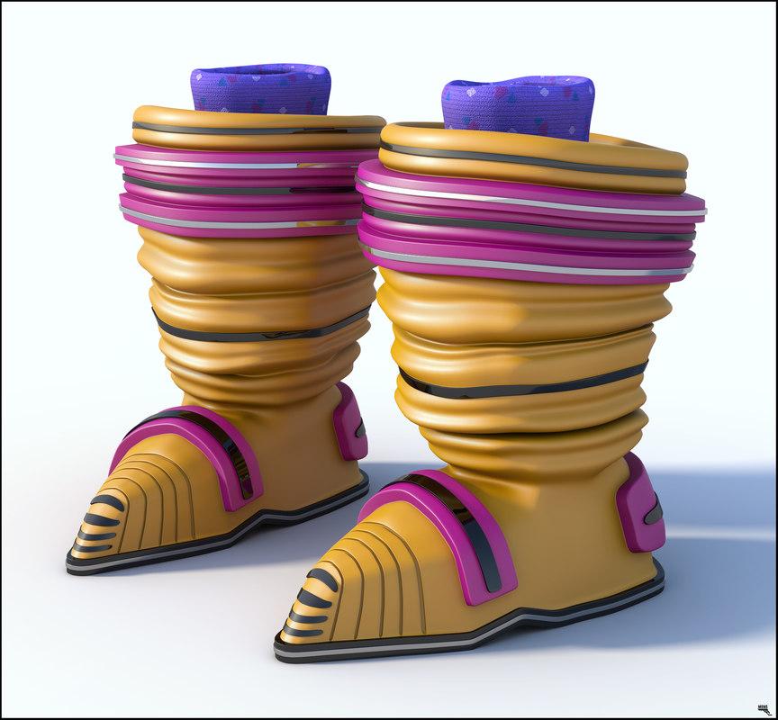 boots girl sci-fi model