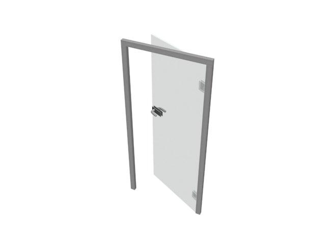 3D model door glass style