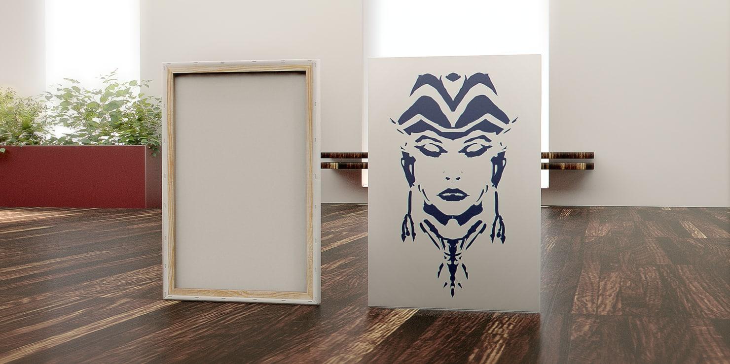 canvas painting 3D