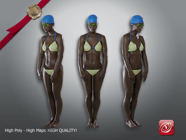 female swimmingpool aaf 002 3D