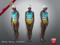 female swimmingpool ain 002 3D