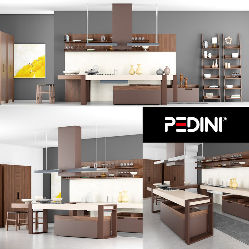 3D pedini kitchen model