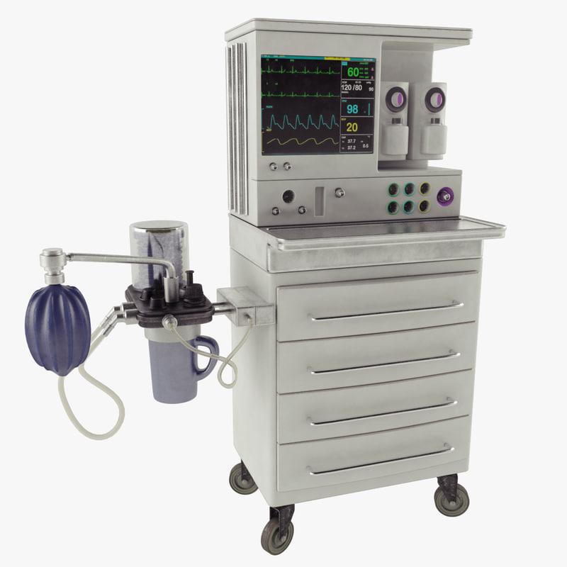 anesthesia machine 3D