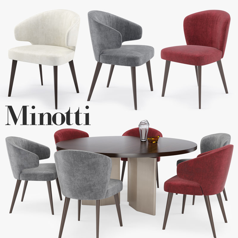 3D minotti aston set model